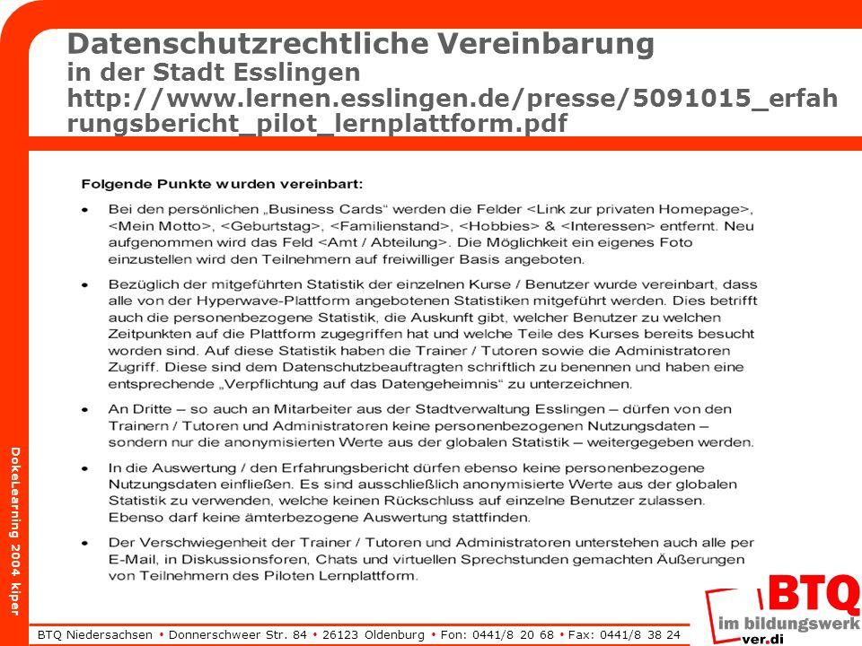 BTQ Niedersachsen Donnerschweer Str.