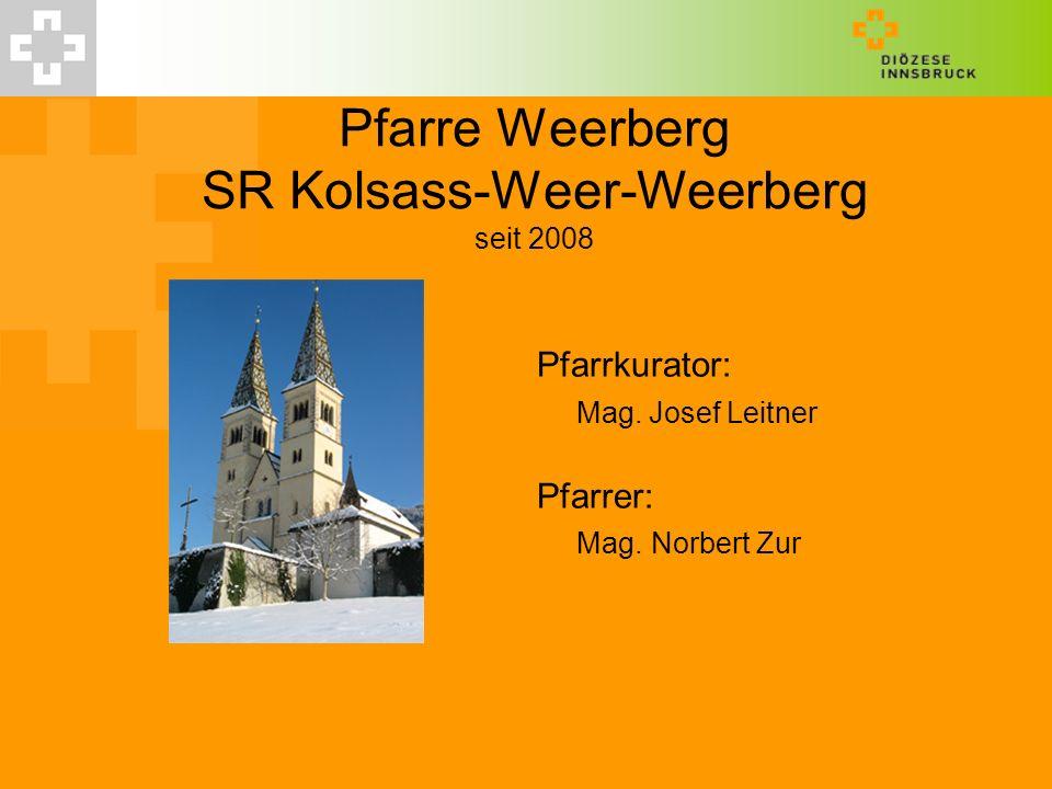 Pfarre Weerberg SR Kolsass-Weer-Weerberg seit 2008 Pfarrkurator: Mag. Josef Leitner Pfarrer: Mag. Norbert Zur