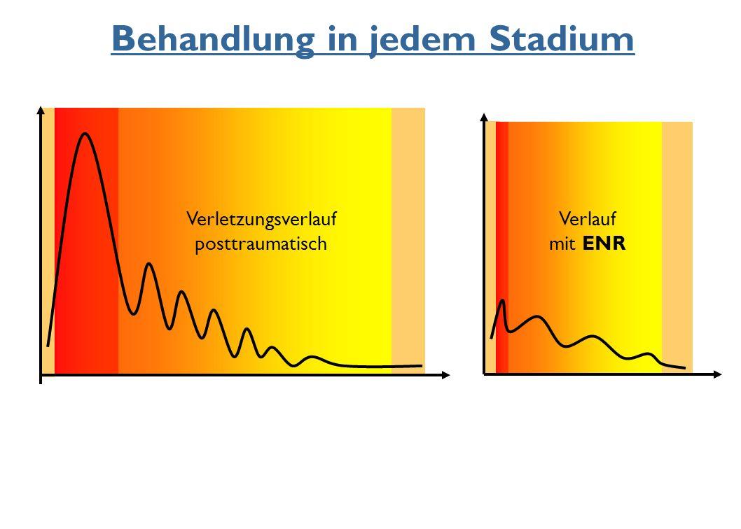 Behandlung in jedem Stadium Verletzungsverlauf posttraumatisch Verlauf mit ENR
