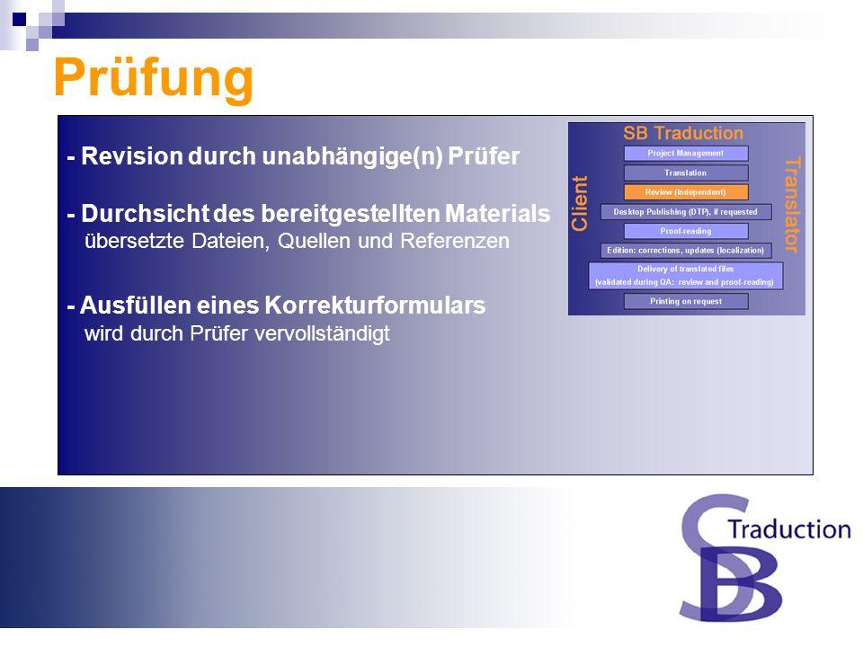 Übersetzung - Ausgangsdateien Übersetzungspaket - Zu übersetzende Dateien Dateityp, erforderliche Tools etc.