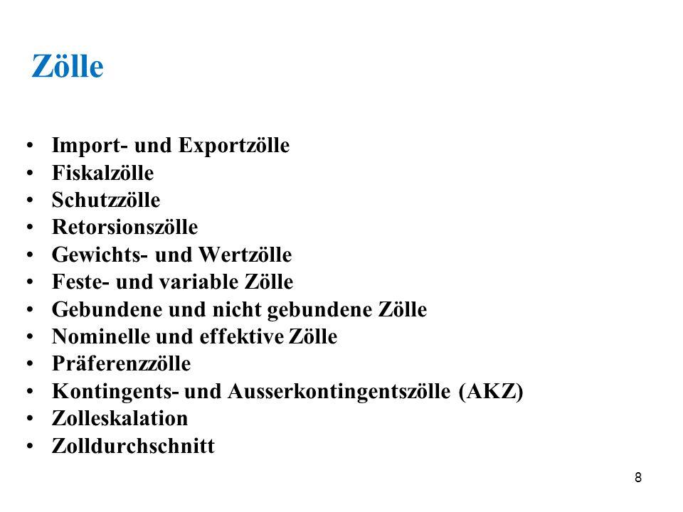 19 Ausnahmen von mfn 1.Grandfather clauses (Grossvaterklauseln, heute unbedeutend) 2.Integrationsvereinbarungen (Art.
