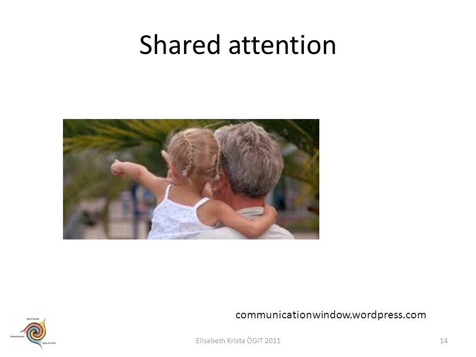 Shared attention communicationwindow.wordpress.com 14Elisabeth Krista ÖGIT 2011