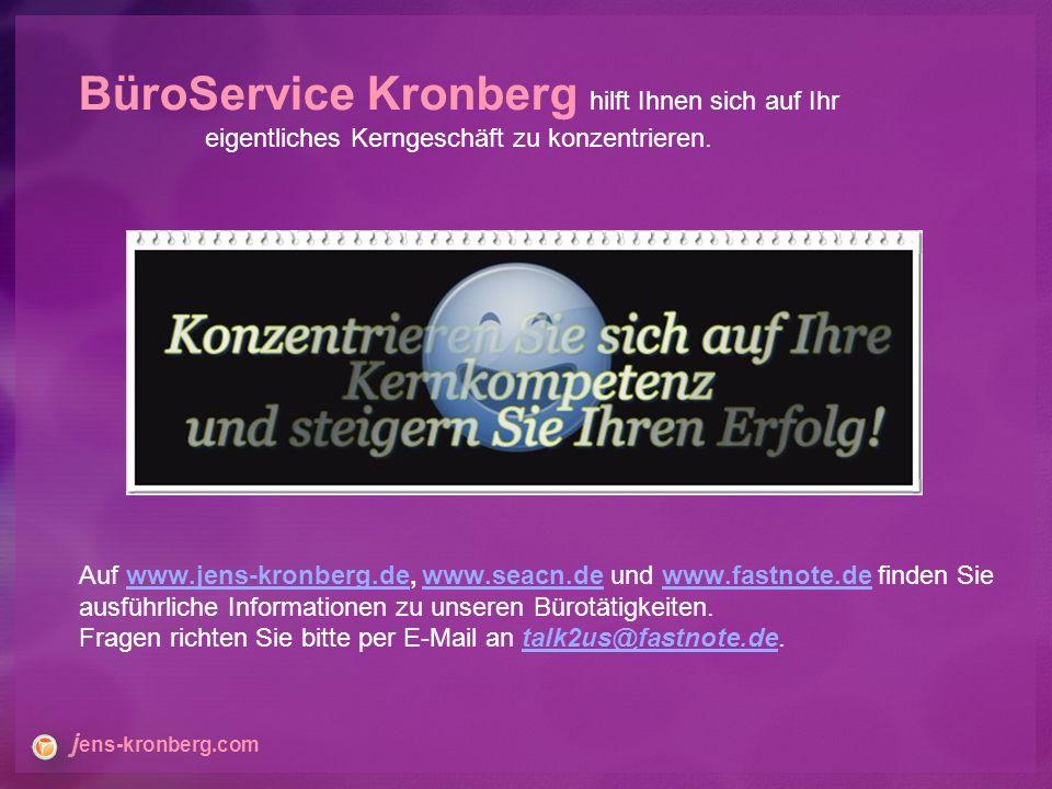 Website: www.fastNOTE.dewww.fastNOTE.de www.seacn.de www.jens-kronberg.de E-Mail: talk2us@fastNOTE.detalk2us@fastNOTE.de FAX Berlin: +49 30 610900 71996 BüroService Kronberg SEA-CN Co., Ltd.