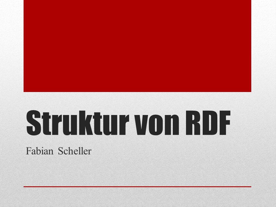 Struktur von RDF Fabian Scheller