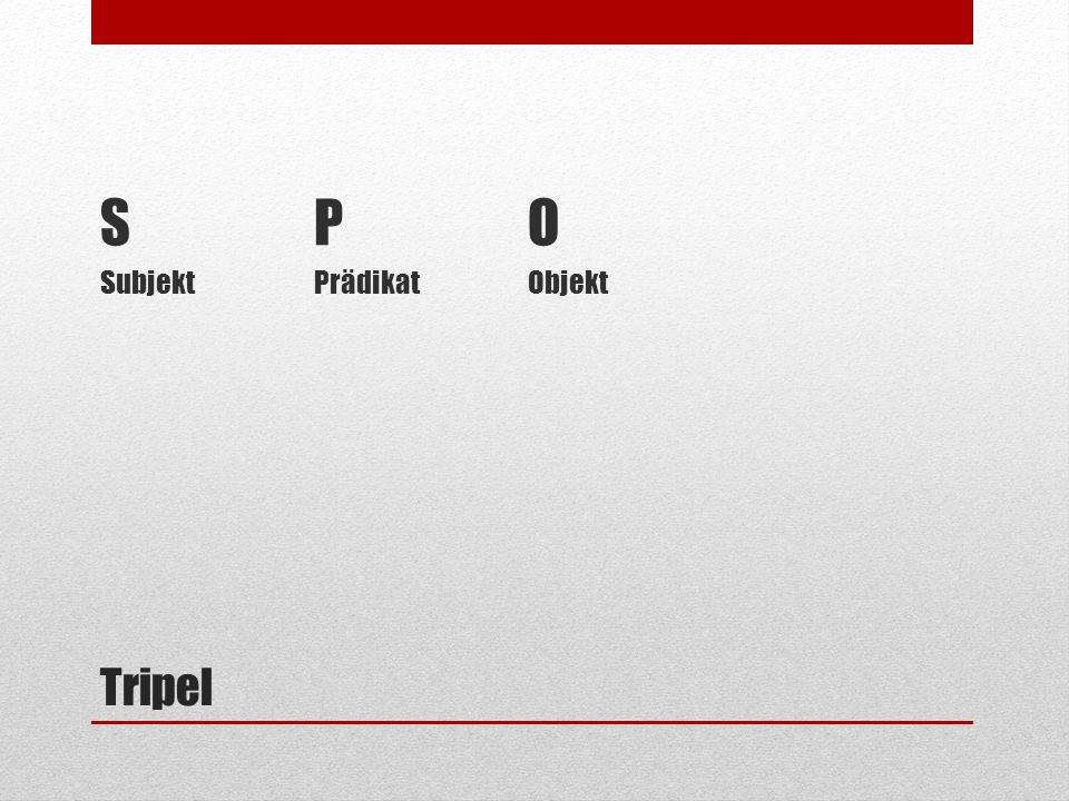 Tripel SPO SubjektPrädikatObjekt