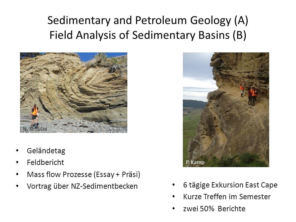 Sedimentary and Petroleum Geology (A) Field Analysis of Sedimentary Basins (B) Geländetag Feldbericht Mass flow Prozesse (Essay + Präsi) Vortrag über