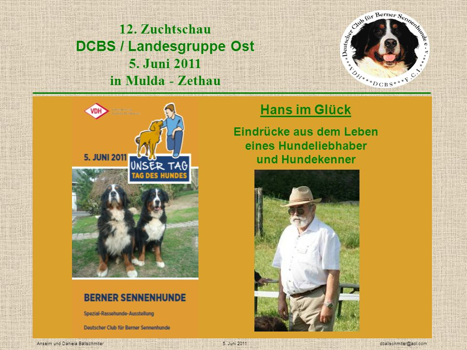 12. Zuchtschau DCBS / Landesgruppe Ost 5.
