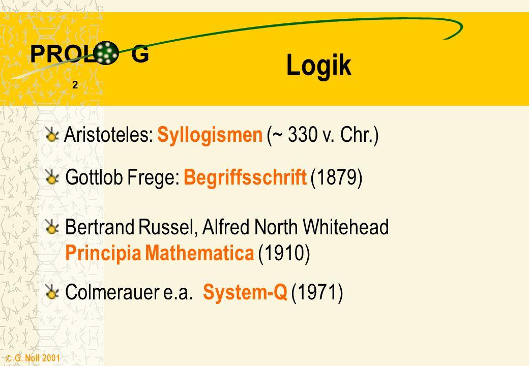 Einführung in PROLOG Referat zur Veranstaltung Informatik VI (18.635) StD G. Noll Rhein Gymnasium Sinzig Februar 2001 g ( x ) f ( ) g ( ) f ( x ) barb