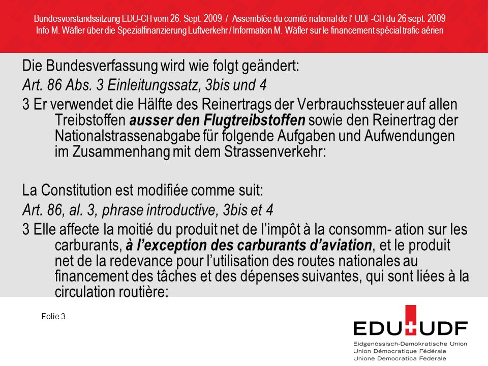 Delegiertenversammlung EDU-CH vom 17.Okt.2009 / Assemblée des déléguées de l UDF-CH du 17 oct.