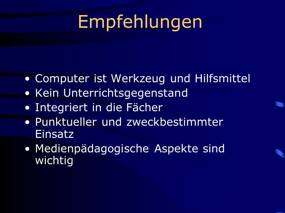 Computer an der Oberstufe Computer allein können den Unterricht nicht verändern.