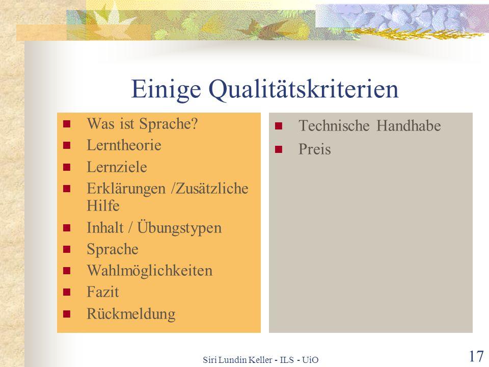Siri Lundin Keller - ILS - UiO 16 Expl. Grammatiktraining mit IKT 1 1: Beispiele von Konserven * = kostet … = für bestimmtes Lehrwerk_ ______ Neue Hor
