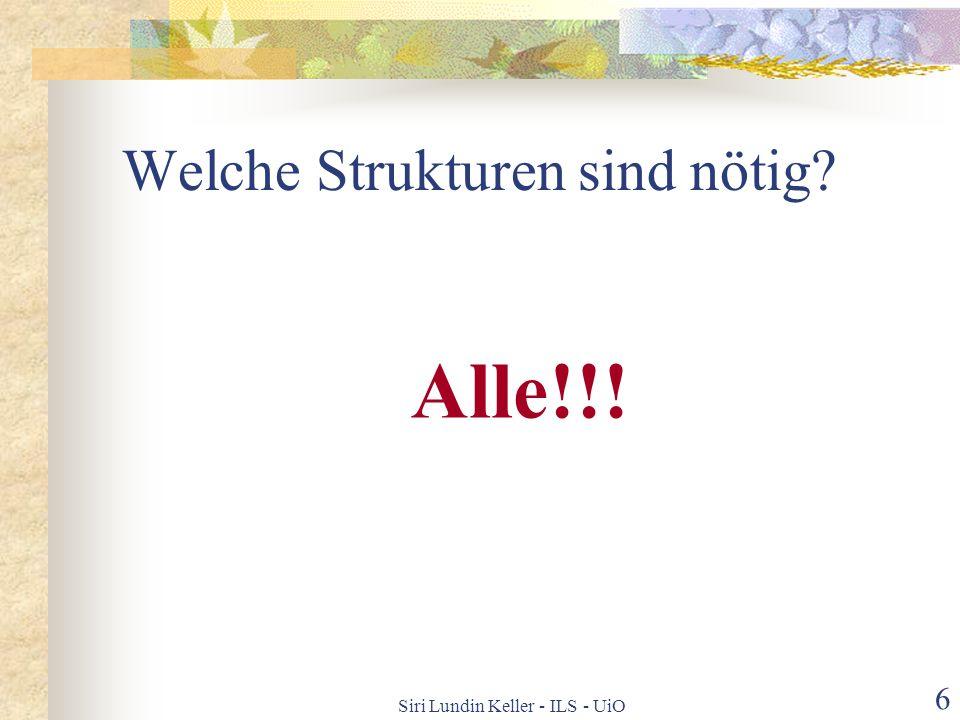 Siri Lundin Keller - ILS - UiO 5 Die Lehrpläne und die Grammatik GRUNDSCHULE Finne frem til mening Utforme tekster (m/s) for kommunikasjon Feil naturl