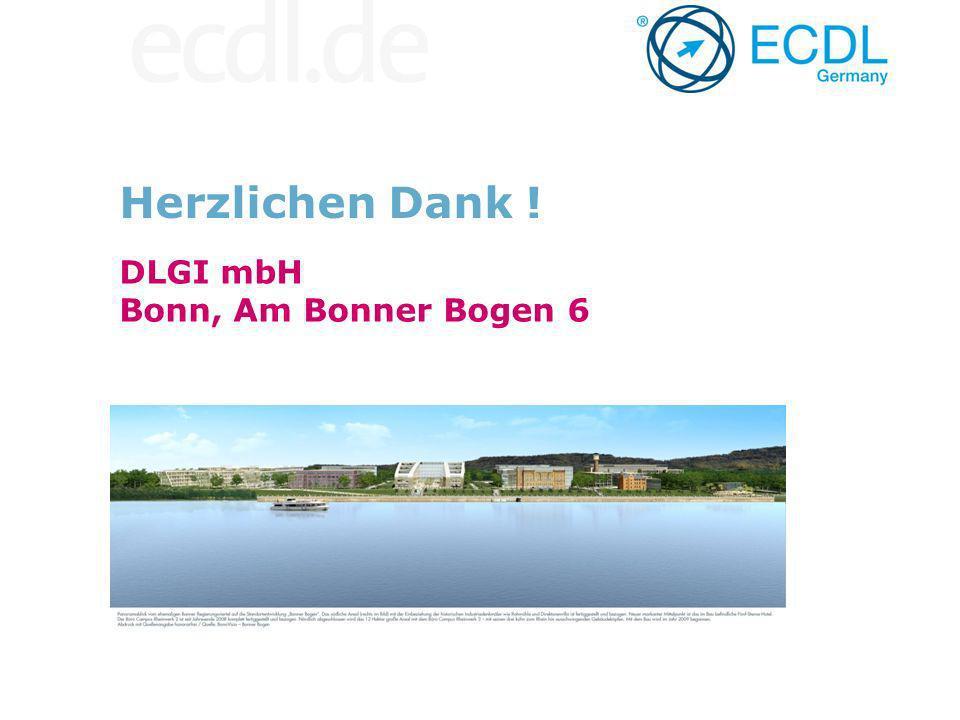 DLGI mbH Bonn, Am Bonner Bogen 6 Herzlichen Dank !