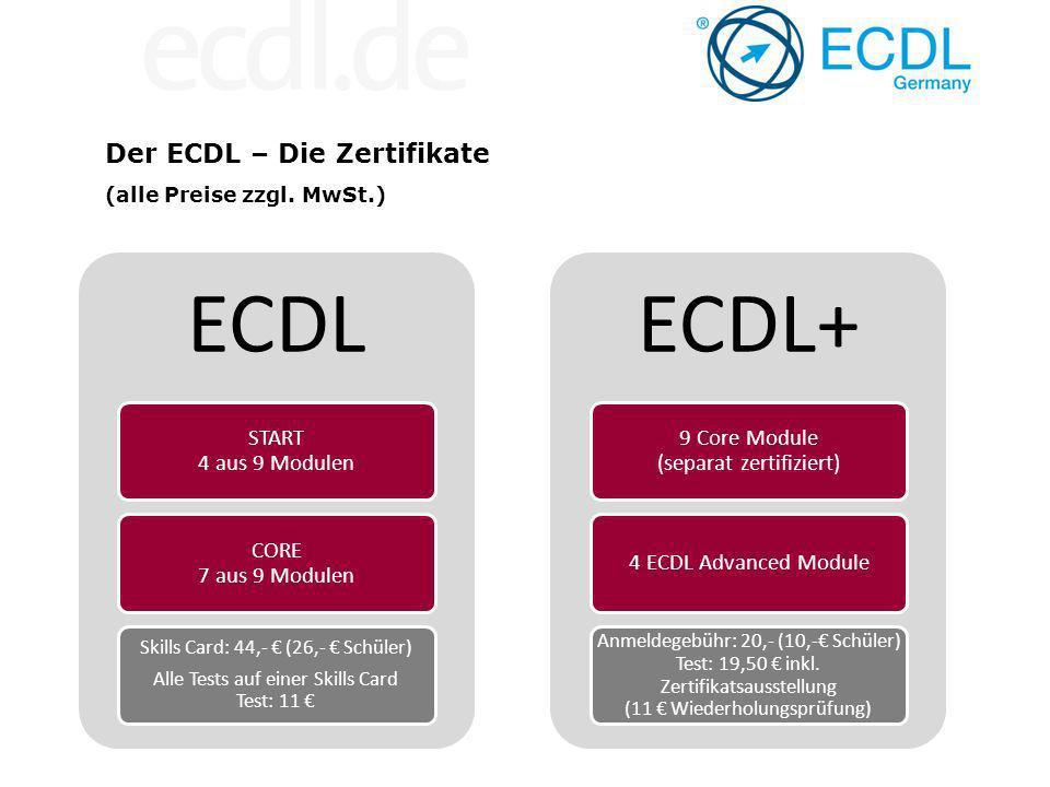 ECDL–Lernmaterialien – DLGI akkreditiert Ergänzend: www.ecdl-moodle.de