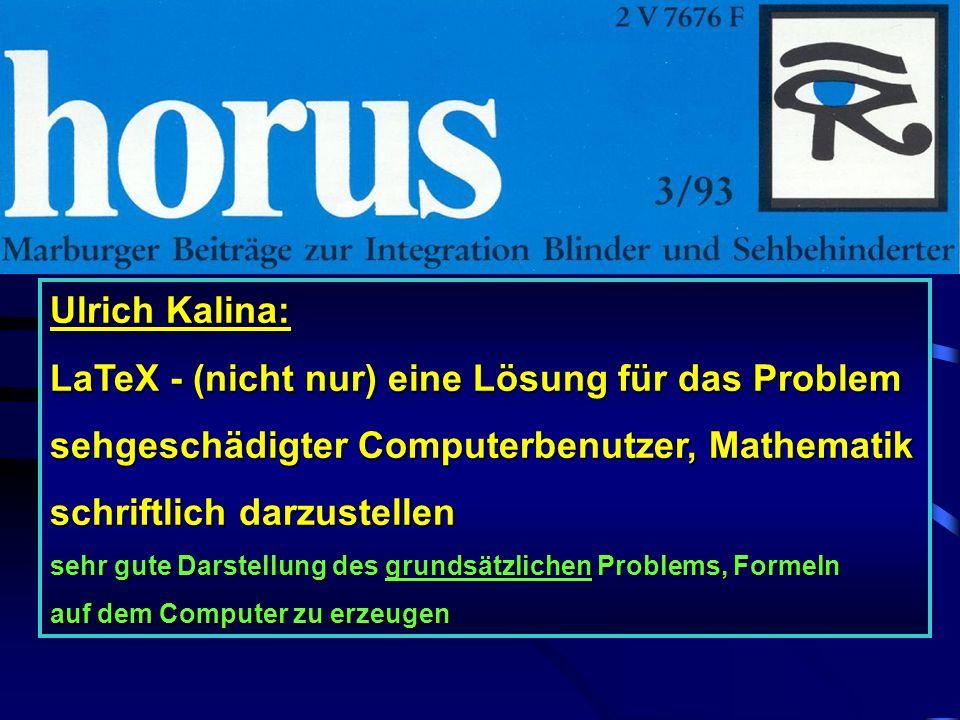 Sehr mächtiges wissenschaftliches Programm!! Keine praktische Bedeutung für Schüler der CSS! Erzeugt LaTeX direkt!