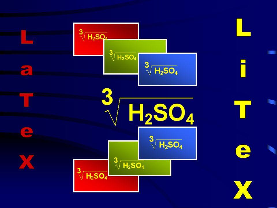 Je komplexer ein mathematischer Ausdruck ist, desto länger wird auch seine Darstellung in der LaTeX - Notation.