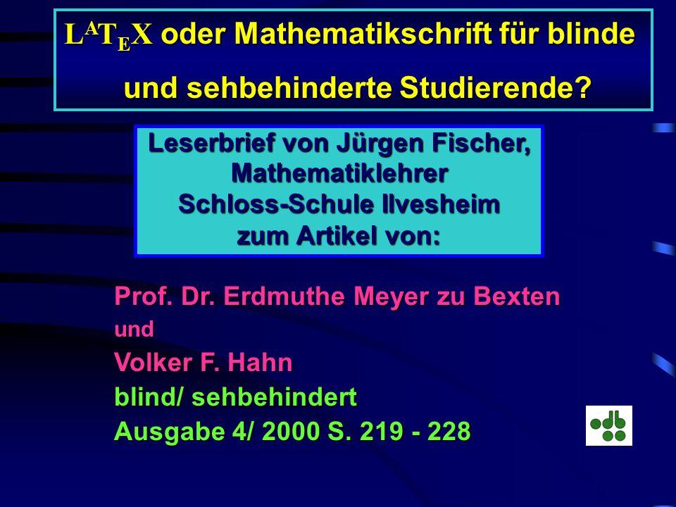 Je komplexer ein mathematischer Ausdruck ist, desto länger wird auch seine Darstellung in der LaTeX - Notation. Das bedeutet, dass die Lesbarkeit von