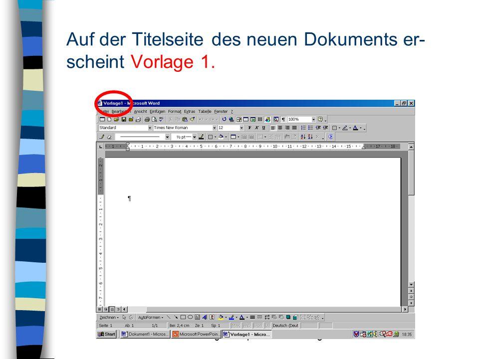 © Ingrid Stephan – LEU Stuttgart Gestalten Sie die Dokumentvorlage mit einer Kopf- und Fußzeile :