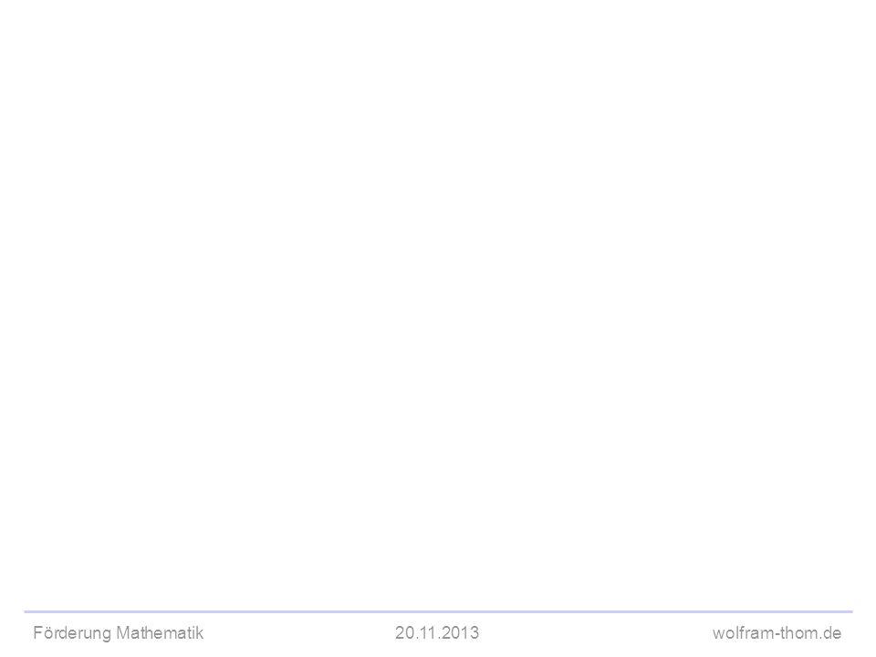 Förderung Mathematik20.11.2013wolfram-thom.de