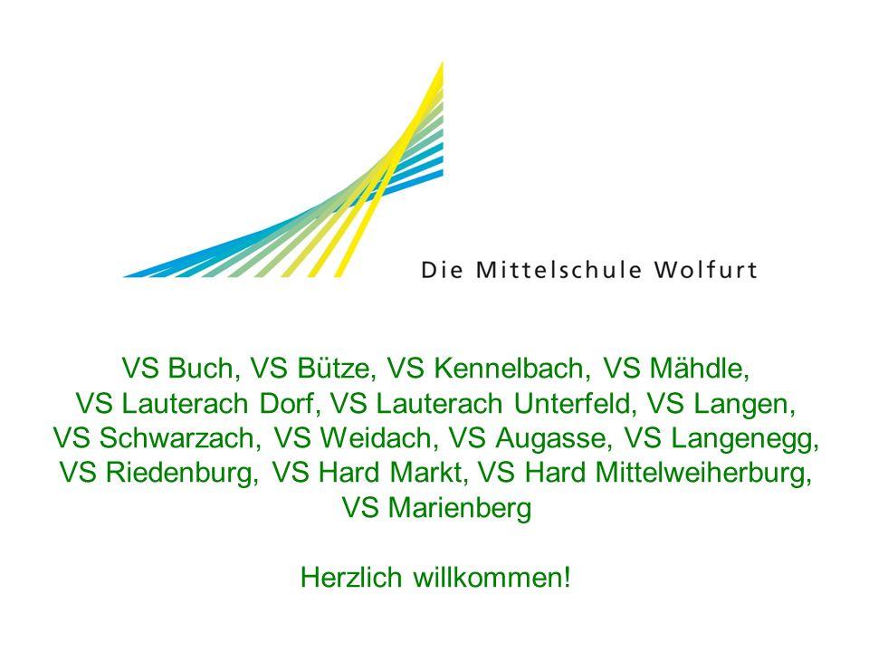 VS Buch, VS Bütze, VS Kennelbach, VS Mähdle, VS Lauterach Dorf, VS Lauterach Unterfeld, VS Langen, VS Schwarzach, VS Weidach, VS Augasse, VS Langenegg