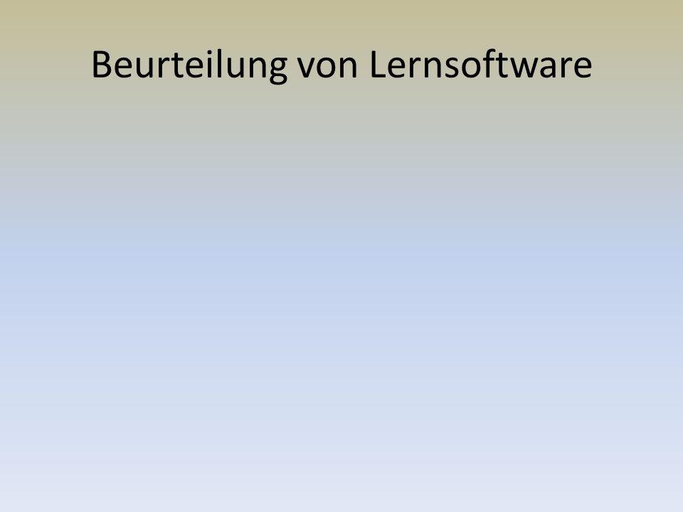 Beurteilung von Lernsoftware