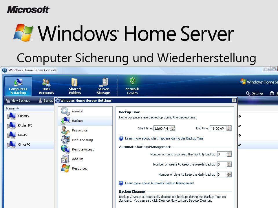 Computer Sicherung und Wiederherstellung