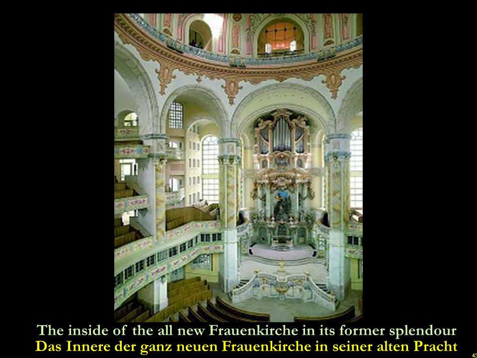 42 The city of Dresden looks intact and whole again once more Die Stadt Dresden sieht endlich wieder einmal intakt und ganz aus u