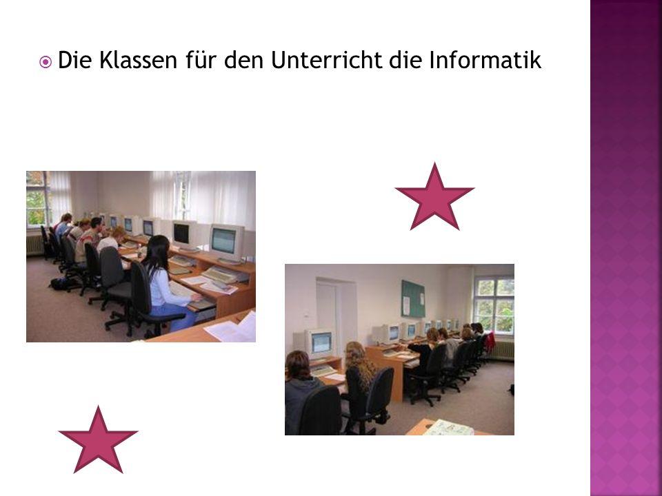 Die Klassen für den Unterricht die Informatik