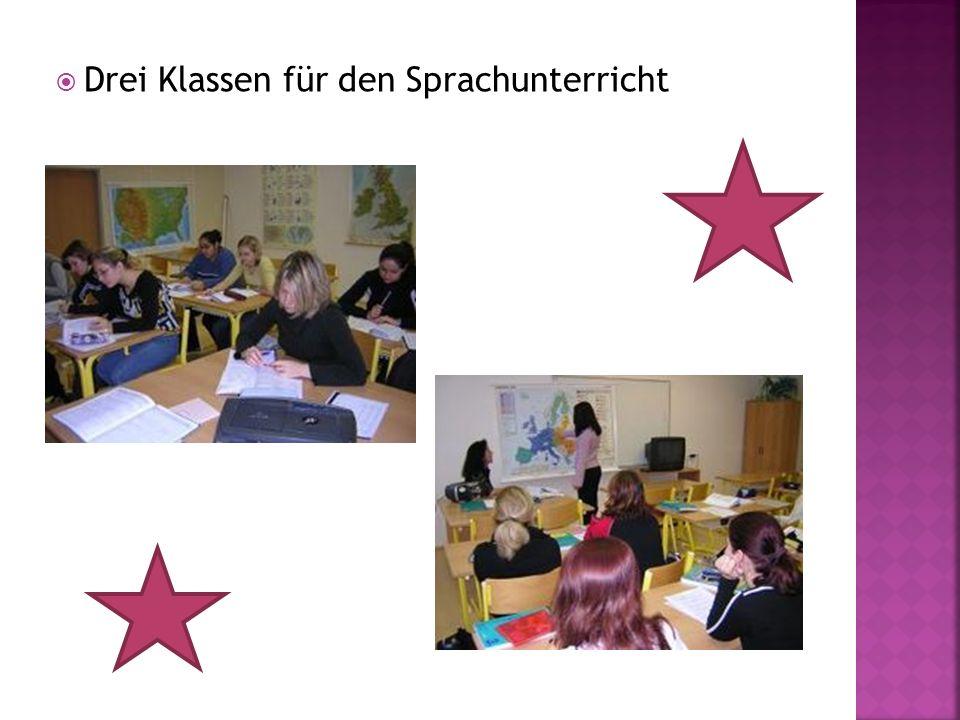 Drei Klassen für den Sprachunterricht