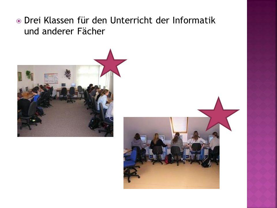 Drei Klassen für den Unterricht der Informatik und anderer Fächer