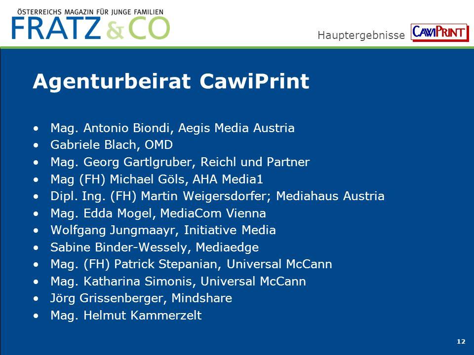 Hauptergebnisse 12 Agenturbeirat CawiPrint Mag.