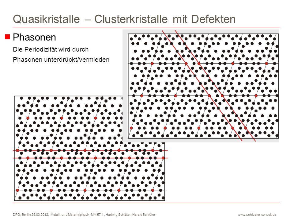 DPG, Berlin 29.03.2012, Metall- und Materialphysik, MM 57.1 ; Hartwig Schlüter, Harald Schlüter www.schlueter-consult.de Phasonen Die Periodizität wir