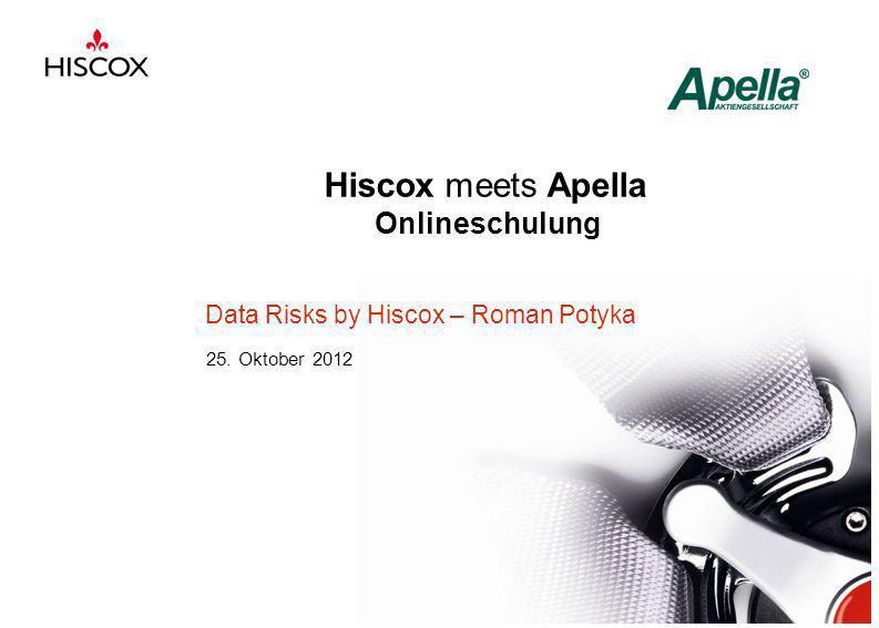 Hiscox meets Apella Onlineschulung Data Risks by Hiscox – Roman Potyka 25. Oktober 2012