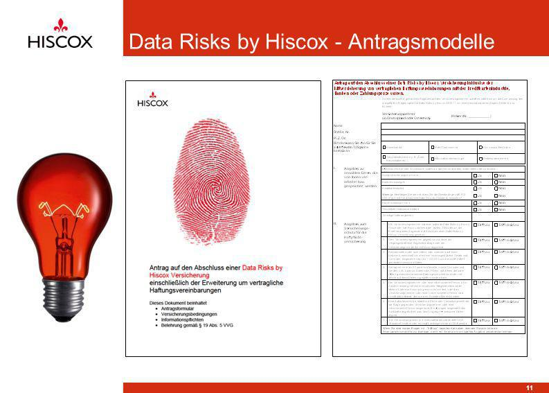 Data Risks by Hiscox - Antragsmodelle 11