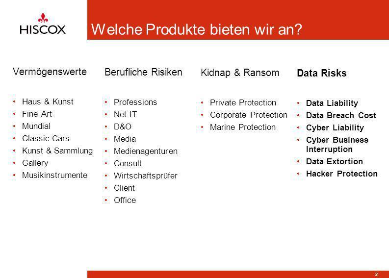 3 Was ist Data Risks by Hiscox und warum bieten wir dieses Produkt an.