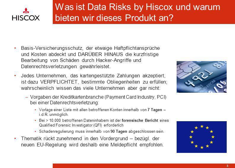 3 Was ist Data Risks by Hiscox und warum bieten wir dieses Produkt an? Basis-Versicherungsschutz, der etwaige Haftpflichtansprüche und Kosten abdeckt