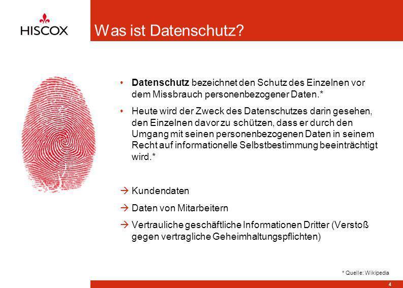 Was ist Datenschutz? Datenschutz bezeichnet den Schutz des Einzelnen vor dem Missbrauch personenbezogener Daten.* Heute wird der Zweck des Datenschutz