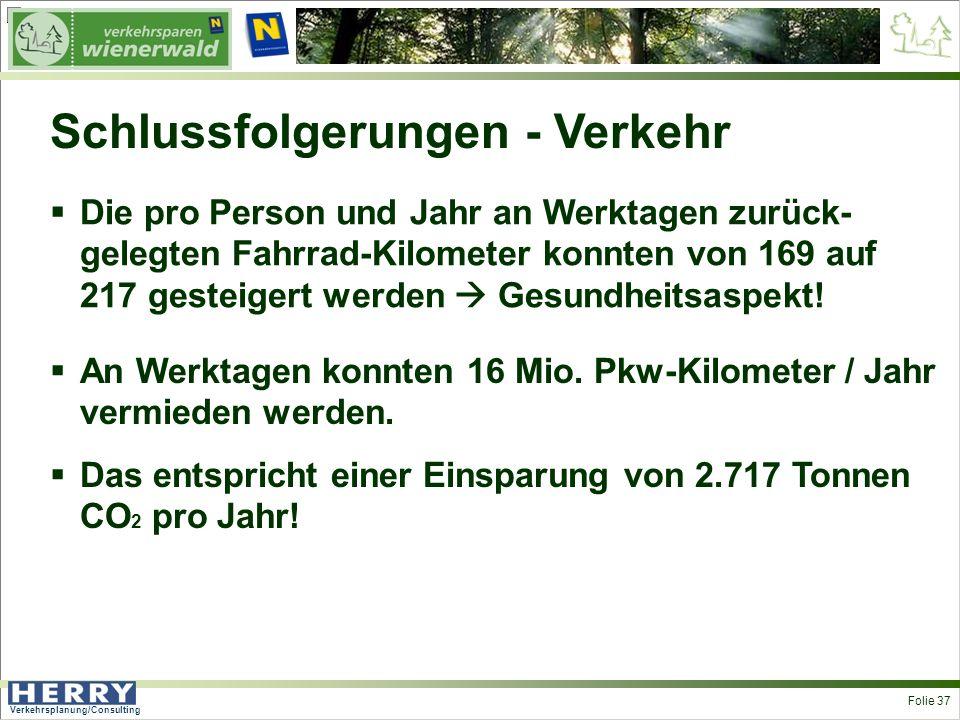 Verkehrsplanung/Consulting <> Folie 37 An Werktagen konnten 16 Mio.