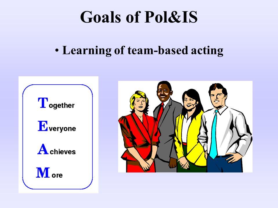 Training of rhetorical capabilities Goals of Pol&IS