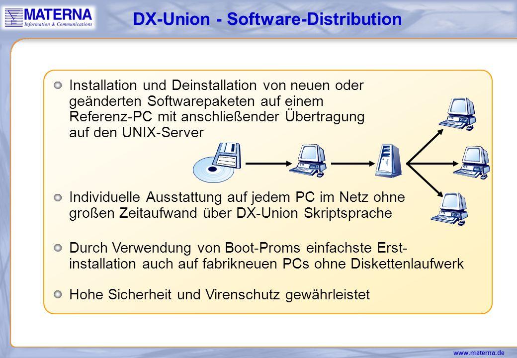 www.materna.de Schreibtisch Ablagen Drucker Anwendungen DX-Union - der Roaming User Räumlich beliebiger Netzzugang für Mitarbeiter
