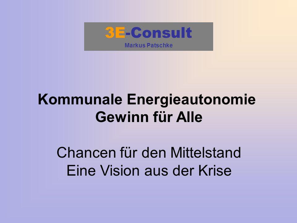 3E-Consult Markus Patschke Kommunale Energieautonomie Gewinn für Alle Chancen für den Mittelstand Eine Vision aus der Krise