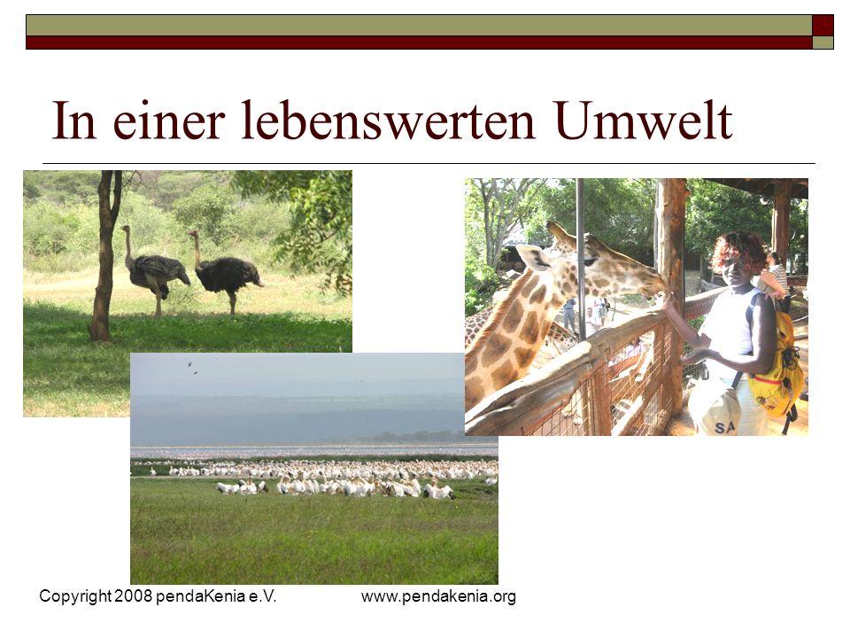 www.pendakenia.org Copyright 2008 pendaKenia e.V. In einer lebenswerten Umwelt