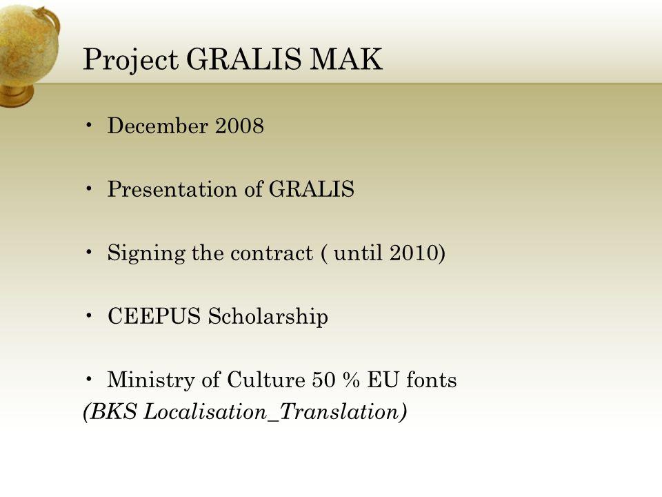 Project GRALIS MAK April 2009 1000 Zosto, 1000 Zatoa Ivo Andric: 1.Deca 2.Mostot na Drina Branko Copic 1.Ulavite Godini