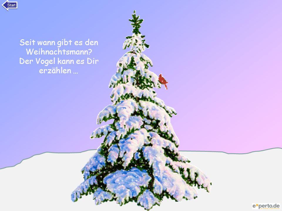 Seit wann gibt es den Weihnachtsmann? Der Vogel kann es Dir erzählen … Start