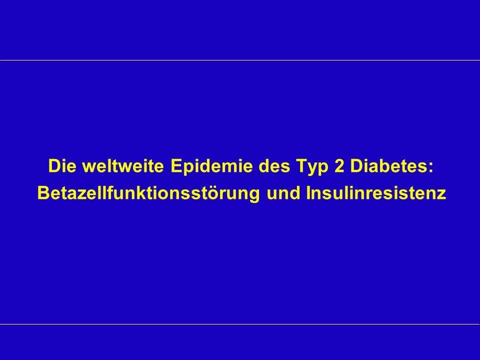Die weltweite Epidemie des Typ 2 Diabetes: Betazellfunktionsstörung und Insulinresistenz