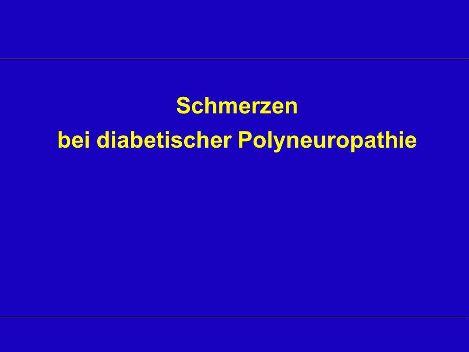 Schmerzen bei diabetischer Polyneuropathie