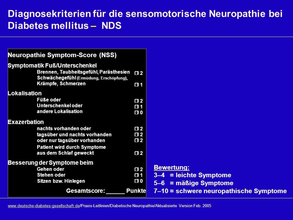 www.deutsche-diabetes-gesellschaft.dewww.deutsche-diabetes-gesellschaft.de/Praxis-Leitlinien/Diabetische Neuropathie/Aktualisierte Version Feb. 2005 D