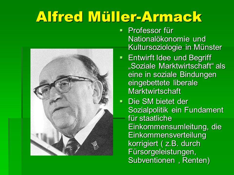 Alfred Müller-Armack Professor für Nationalökonomie und Kultursoziologie in Münster Professor für Nationalökonomie und Kultursoziologie in Münster Ent