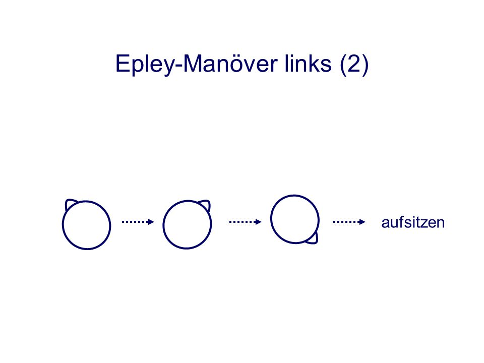 Epley-Manöver links (2) aufsitzen