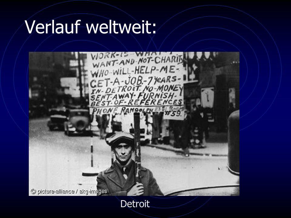 Verlauf weltweit: Detroit